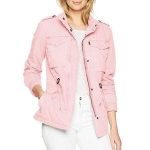 NWT Levi's Adele Contrast Cuff Cargo Jacket Pink